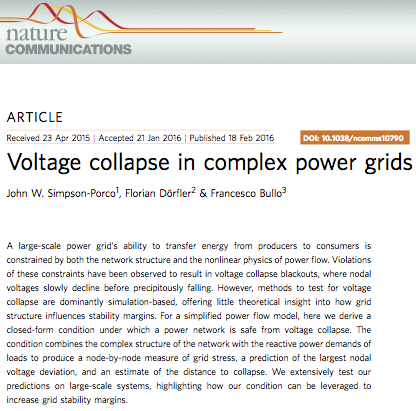 Voltage Collapse Article